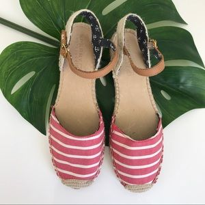 Sperry Striped Nautical Espadrilles Size 9.5